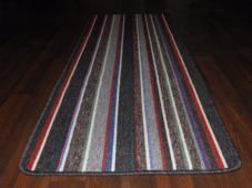 NEW NON SLIP TOP QUALITY RUNNERS 57X170CM APROX 6FTX2Ft STRIPE DESIGN GREY MULTI